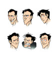 a set of emotions of a man phlegmatic vector image vector image