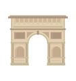 Arc de Triomphe Paris France architecture europe vector image vector image