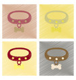assembly flat shading style icons dog collar vector image vector image