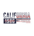 athletic california 1986 typography design vector image vector image
