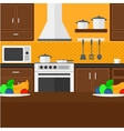 Background of kitchen with appliances