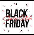 black friday typescript in glitch distorted font vector image vector image