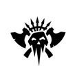black silhouettes orcs clan symbol vector image