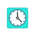 Blue wall clock icon in flat style vector image vector image
