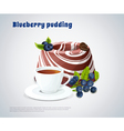Blueberry Pudding vector image