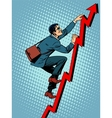 Businessman climber is climbing up according to vector image vector image