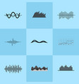 charts collection on blue vector image vector image