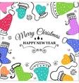 Christmas doodle postcard vector image vector image