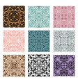 collection of lace patterns vector image vector image