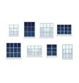 Collection of various window compositions vector image vector image