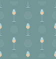 colored seamless pattern with glass of champagne vector image vector image