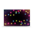 colorful christmas light on night background vector image vector image