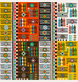 colorful ethnic motifs pattern with geometrical vector image vector image