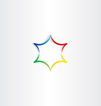 colorful gradient star logo icon design vector image vector image