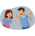 couple fighting and arguing cartoon vector image