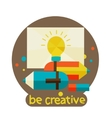 Creative concept with colorful pencil modern vector image