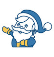 cute santa claus cartoon face vector image