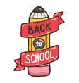 Cute school pencil with ribbon Back to school vector image