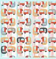 cute van cartoon pattern vector image