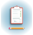 Delivery signature clipboard in flat design vector image vector image