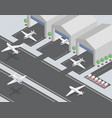 departing arriving planes isometric vector image vector image
