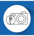 drawing girl shopping with camera vector image vector image