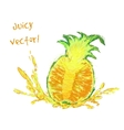 drawing slice of pineapple vector image vector image