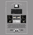 electronics and devices store retro poster vector image