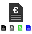 euro document flat icon vector image vector image