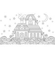 fairy house among waves vector image