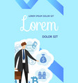 financial business promo flyer poster banner vector image vector image