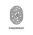 fingerprint unique finger pattern poster vector image vector image