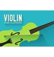 flat violin guitar background concept vector image