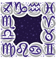 frame for astrology vector image