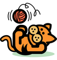 Fun Cartoon cat vector image vector image