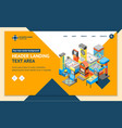game machine 3d landing web page template vector image vector image