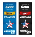 Gift voucher design Memorial day sale vector image vector image