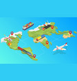 global logistics network 3d isometric vector image