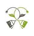 green tea sign vector image vector image