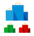group of bright flat shopping bags vector image vector image