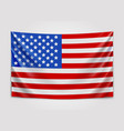 hanging flag of usa united states of america vector image vector image