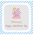 Happy valentine s day card7 vector image vector image