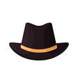 hat top black bowler gentleman icon vintage vector image vector image