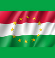 hungary national flag with a star circle of eu vector image vector image