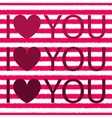 I love you with heart shirt design vector image vector image
