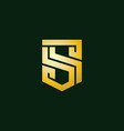 initial letter s logo design inspiration vector image vector image