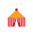 isolated carnival tent icon vector image vector image