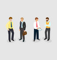 isometric image of people businessmen managers in vector image
