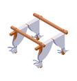 isometric object isolated on white wood vector image