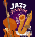 jazz festival musical festival live music vector image vector image